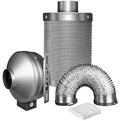 IPower 4 Inch 190 CFM Duct Inline Fan With 4