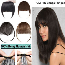 Side Bangs Clip On Neat/air Bang Fringes 3 Clip In 100 Human Hair Extensions Rw