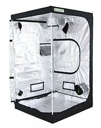 Indoor Hydroponic Grow Tent 4 x 4 Reflective Mylar Plant Growing Room With Vents