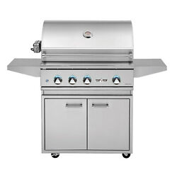 Delta Heat Freestanding Gas Grill w/ Rear Infrared Burner and Sear Zone, 32