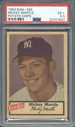 1954 Dan-Dee Potato Chips Mickey Mantle PSA 5.5