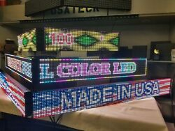 Double Led Sign From 51 To 100 Long 4 Ft To 8 Ft 6.5 Tall Made In Usa