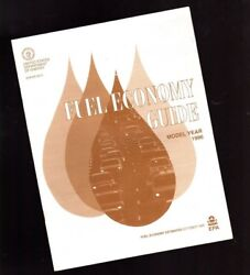 1996 Gas Mileage Guide By Epa Fuel Economy- Ford,chevy,pontiac,olds,chrysler,