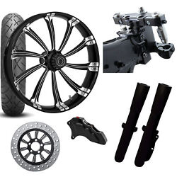 Rc 26 Cypher Eclipse Wheel Tire Neck Rake Front End Package Harley Single Side