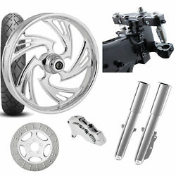 Rc 26 Crisis Chrome Wheel Tire Neck Rake Front End Package Harley Single Side