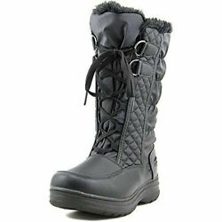 Totes Women's Donna Double Zip Wide Width Winter Boot Black SIZE 8W --R6--