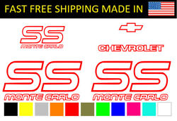 Monte Carlo Decal Kit SS Stickers decal Chevrolet Chevy