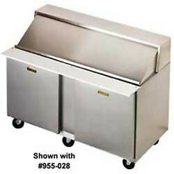 Front Breathing SandwichSalad Prep Table - 2 Doors LeftRight Hinged