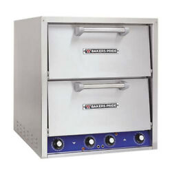 Bakers Pride P44-BL Countertop Electric Pizza Oven 2 Deck Brick Lined Hearth
