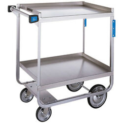 Stainless Steel Utility Cart, 700 Lb. Cap., Two 15.5wx24d Shelves, Nsf Listed