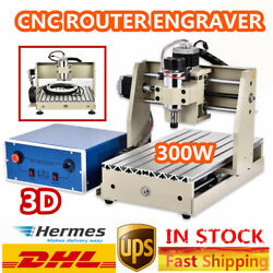 New CNC 3020T 3 Axis 3D Brand New Router Engraving Carving Machine 300W DC Motor