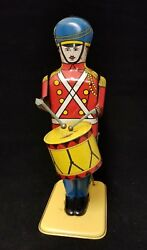 Vintage 1950's Wolverine No. 27 Drum Major Lithograph Tin Wind Up Toy 13 Tall