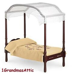 American Girl Caroline's Bed And Bedding Canopy Nib Four Poster Retired Felicity