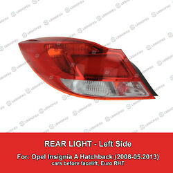 Tail Light Left Lamp for Opel Insignia A Hatchback (2008 - 05.2013)