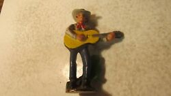 Old Cast Iron Cowboy And Guitar Figural Bottle Opener F-27