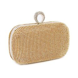 Diamond Studded Evening Bag With Chain Shoulder Bag Evening Clutch Bags $28.24