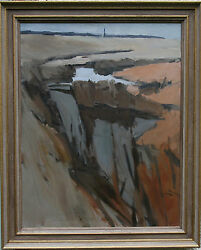 Lawrence Self Modern British Abstract Landscape Essex Oil Painting 1924-2001