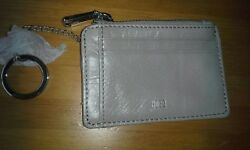 HOBO International 'Kai' Leather Credit Card Holder Mini Wallet Cloud NEW $48.00