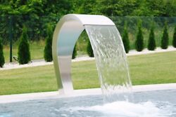 Swimming Pool Waterfall 500 Polished Fountain Stainless Steel Garden Decor
