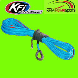 Kfi Syn25-b50 1/4 Synthetic 50' Atv Winch Cable Blue For 4000-4500lb Winches