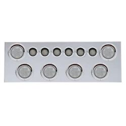 Rear Center Panel W/ 4 Lights And 2 Lights And Visors - Red Led/clear Lens