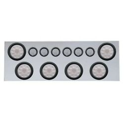 Rear Center Panel W/ 4 Lights And 2 Lights And Grommets - Red Led/clear Lens