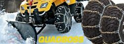 2011-2012 Arctic Cat 425i Cr - Front Snow Chains 2 Chains - Tire Size 25x8x12