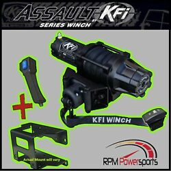 Kfi 5000 Lb. Assault Wide Winch Mount Kit And03908-and03919 Polaris 570 Rzr / 800 Rzr 4
