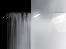 Gessi Head Shower Private Wellness Tremillimetri Wall Head Shower With Led Light