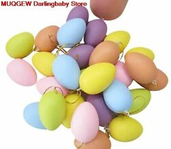 Easter Eggs Children Painting Eggs Hanging Plastic Egg Toy DIY Decorations Gift