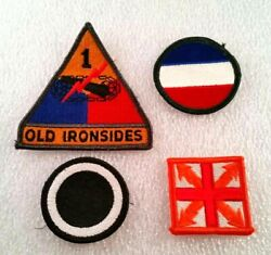 Us Army Patch - Lot Of 4 - Vintage Group Of Military Uniform Patches Ironsides