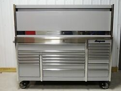 Snap On Arctic Silver KRL7023 Tool Box Stainless Top & Hutch