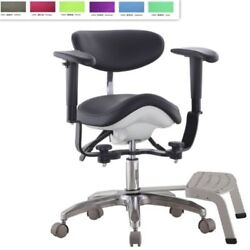 Microscope Dynamic Chair Saddle Stool Medical Seat Dentist Chair With Foot Base