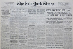 8-1938 August 25 Dodge Saw Hines Get 3000 From Gang Weinberg Says. Schultz