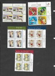 Canada 1999 complete with all 20 upper right plate blocks face $41.08 VF MNH