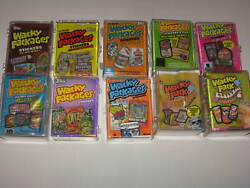 Topps Wacky Packages ANS 10 Sets 1 to 7+ 9 & Flashback 1 & 2 with Wrapper & Case
