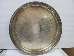 """Wm Rogers And Son Spring Flower Silverplate Reticulated Serve Tray 15"""" W Xlnt Cond"""