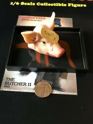 Redman Toys Gangs Of New York Bill The Butcher Pig Head Loose 1/6th Scale