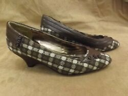Vtg New Nos D. Myers Jj Girl Brown Show Time Wedge Cone Heel Slip On Shoes 9.5m