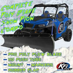 Kfi 60 Snow Plow Poly Blade And Mount Combo Kit Ranger Xp 1000 And Crew 2018-21
