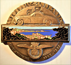 France-1903-1953- Cannes Automobile Club -enameled Silvered Bronze -very Rare