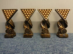 4 X Rs237 160mm Pool Or Snooker Award Including Engraved Plate And Centre