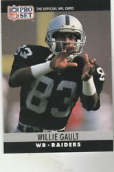FREE SHIPPING-MINT-1990 Pro Set  #153 Willie Gault RAIDERS