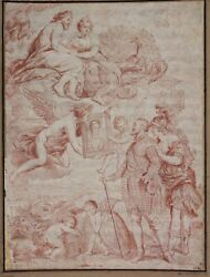 Jean-Marc Nattier (1685-1766)  Old Master Drawing Study after RUBENS