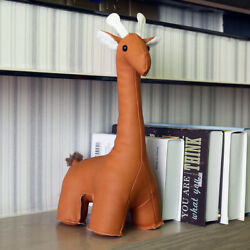 Leather Giraffe Bookend Animal Gift Home Decoration Cute Animal Toy Door