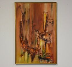 Stunning Abstract Oil On Canvas Painting By Rita Frost
