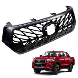 Grille Grill Lexus Style Black For Toyota Hilux Rocco Sr5 4x2 4x4 2018 2019