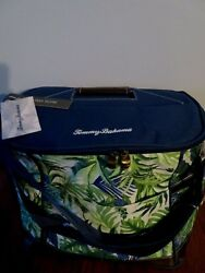 NWT TOMMY BAHAMA Palm Fronds INSULATED COOLER TOTE BAG wBottle Opener BEACH