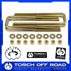 12.5 Square U Bolts 2.5 Wide 9/16 Ubolt 6 Thread With Hardware Free Shipping