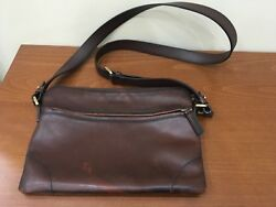 Authentic Salvatore  Ferragamo Men's Cross Body Shoulder Leather Bag